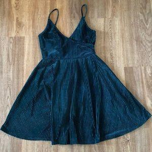 Royal Green Velvet Forever 21 Dress